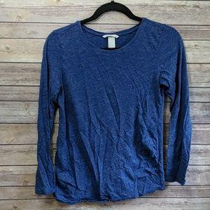 H&M Maternity Long Sleeve Blue Lightweight Shirt